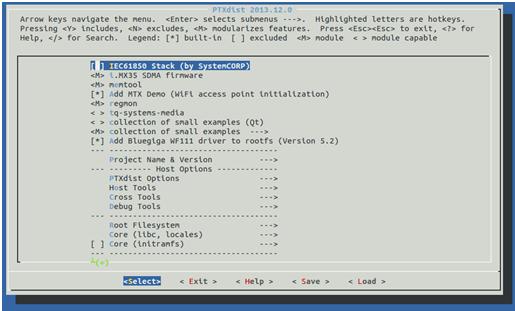 PTXdist menuconfig submenu