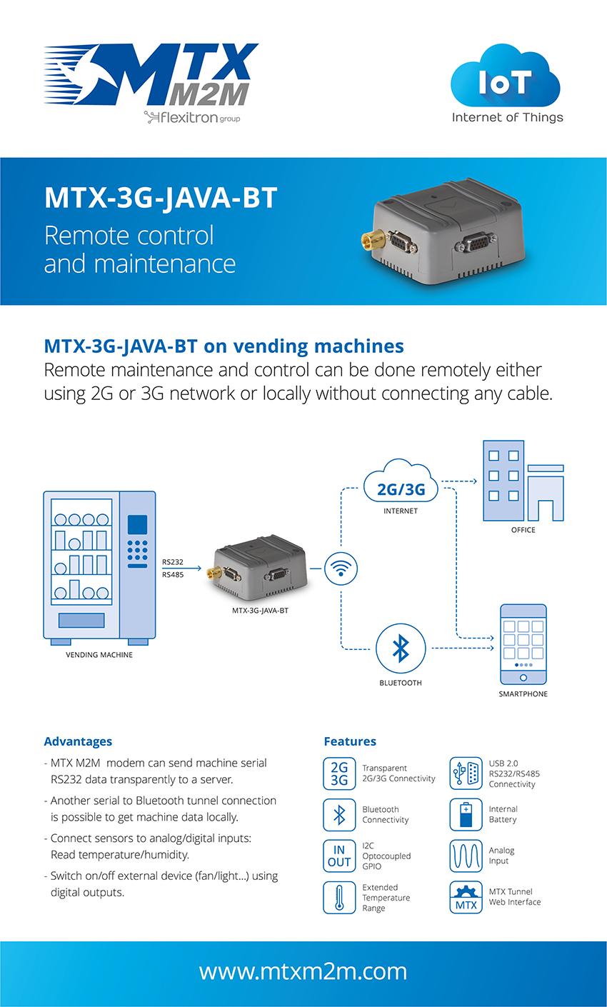 MTX-3G-JAVA-BT máquinas vending